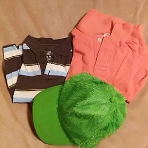 2 polos and a hat